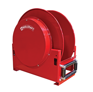 Reelcraft spring retractable high-capacity hose reels