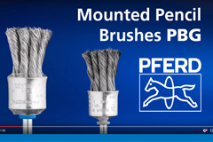 PFERD stem-mounted wire brushes