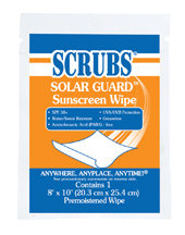 Scrubs Solar SGuard Sunscreen Wipes