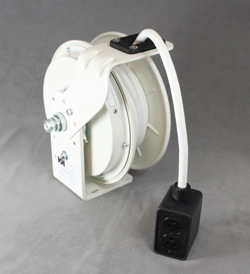 KH Industries white retractable cord reels
