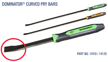 Dominator curved pry bars