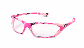 Pink camo safety glasses