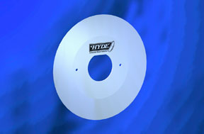 Hyde rubber slitting blade