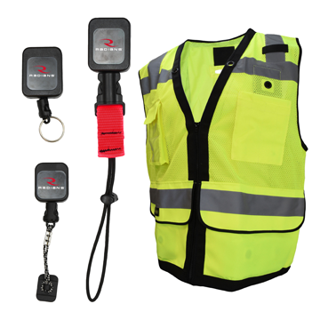 Radians vest with retractable tethers