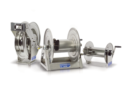 Coxreels stainless steel reels