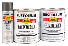 rust oleum steel tech spray paint industrial supply magazine. Black Bedroom Furniture Sets. Home Design Ideas