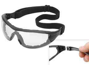 Swap anti-fog safety glasses