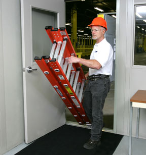 Werner Fiberglass Compact Extension Ladders Industrial
