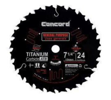 Concord carbide-tipped bandsaw blade
