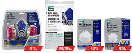 PIP Safety Works respirators