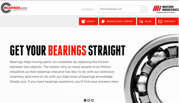 Bearings.com screen shot