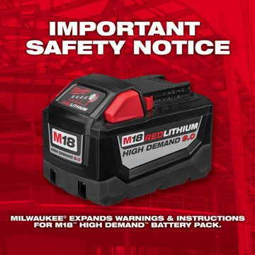 Milwaukee M18 battery pack