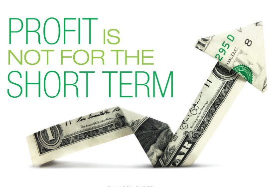 profit is not for the short term