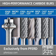PFERD high performance carbide burs